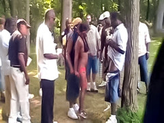 Amateur black whores fucked at the park