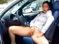 Public masturbation in a parking lot